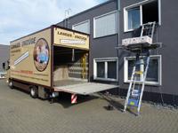 Stecklift. Geringer Platzbedarf - ideal bei LKW-Verladung. Schonender und sicherer Transport von sperrigen Möbelstücken und Umzugsgütern.