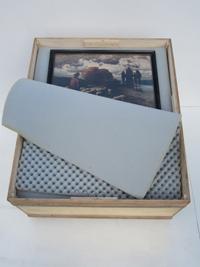 Für den Transport von Bilder: Bilderbox.