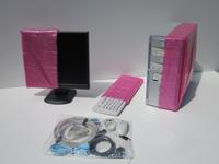 EDV-Set besteht aus: Rechner-, Monitor-, Drucker- und Tastaturhülle sowie Kleinteiletüte.