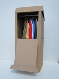 Kleiderbox in der Größe ca. 60 x 51 x 133 cm