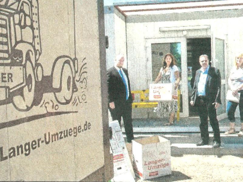 300 Kartons für Kita-Kinder in Dieburger Anzeiger 05/2012